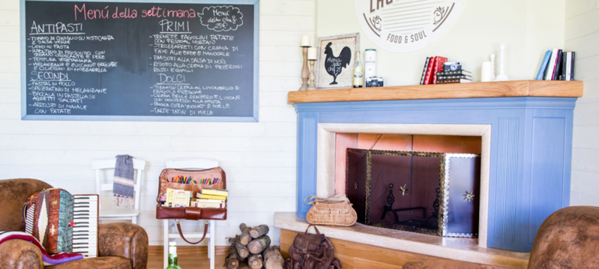 Gli interni dell'osteria - Lago di Oz - Food & Soul